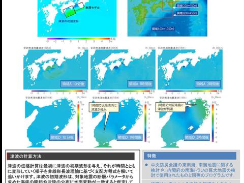 地震・津波リスクの見える化技術