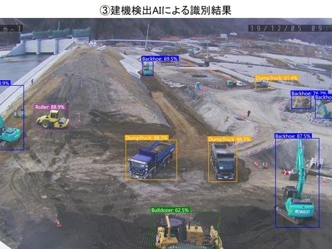 4K定点カメラ映像による工事進捗管理システム